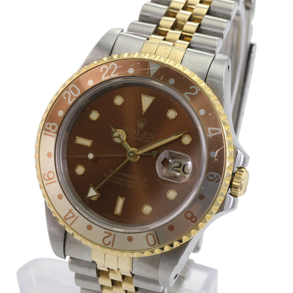 Rolex GMT-Master 16753 Tropical Root-beer Insert Brown Dial Automatic Watch - LSM WATCH