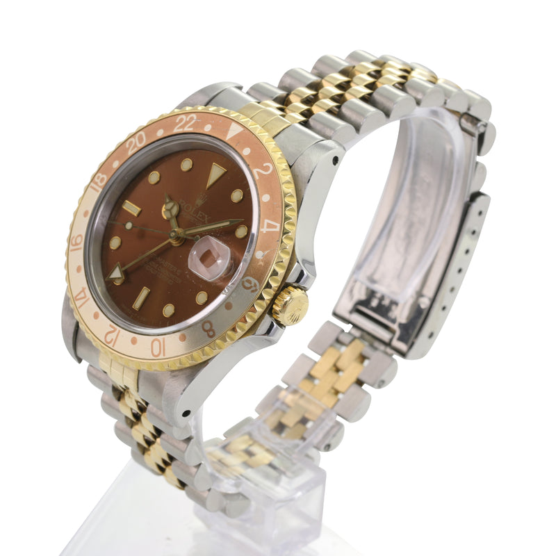Rolex GMT-Master 16753 Tropical Rootbeer Nipple Dial Automatic Watch - LSM WATCH