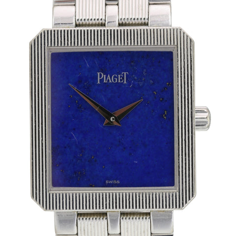 Piaget Protocole 50154 M601D 18K White Gold Watch Lapiz Lazuli Dial 24mm x 28mm - LSM WATCH
