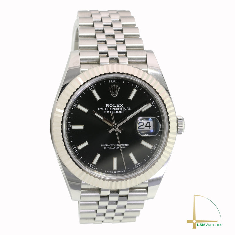 Pre-Owned Rolex Datejust II Stainless Steel Black 126334