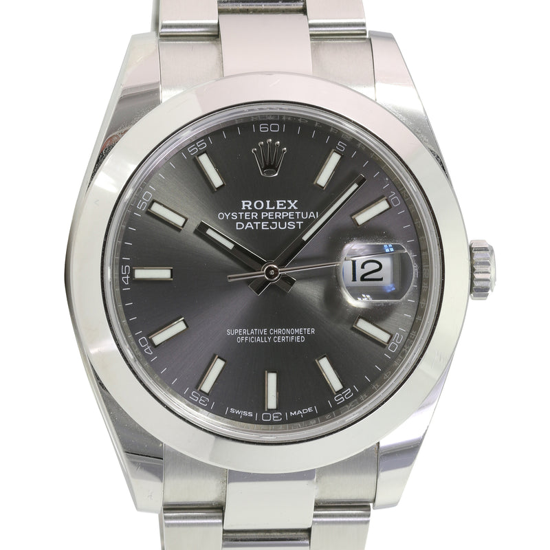 Pre-Owned Rolex Datejust II Stainless Steel Grey Dial 126300