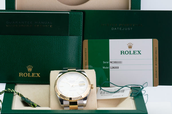 Unworn Rolex Datejust 126333 - LSM WATCH