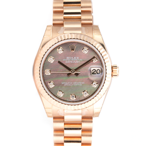 Rolex Lady Datejust 31mm 178275 18K Rose Gold Tahitian Mother of Pearl Diamonds - LSM WATCH