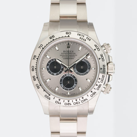 Rolex Watch 40mm Cosmograph Daytona 116509 18k White Gold Steel Black Dial 40mm - LSM WATCH
