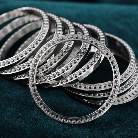 Rolex Mounting Diamond Set Stainless Steel Bezel Men's 36mm 50 pcs - New - LSM WATCH