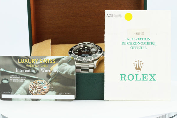Pre-Owned Rolex Submariner 16610 - LSM WATCH