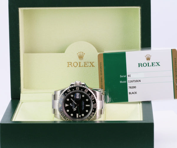 Unworn Rolex GMT Master II 116710LN - LSM WATCH