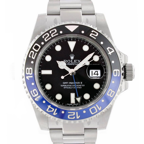 Rolex Watch Men's GMT Master II 116710 Steel Batman Black Blue Bezel Insert - LSM WATCH