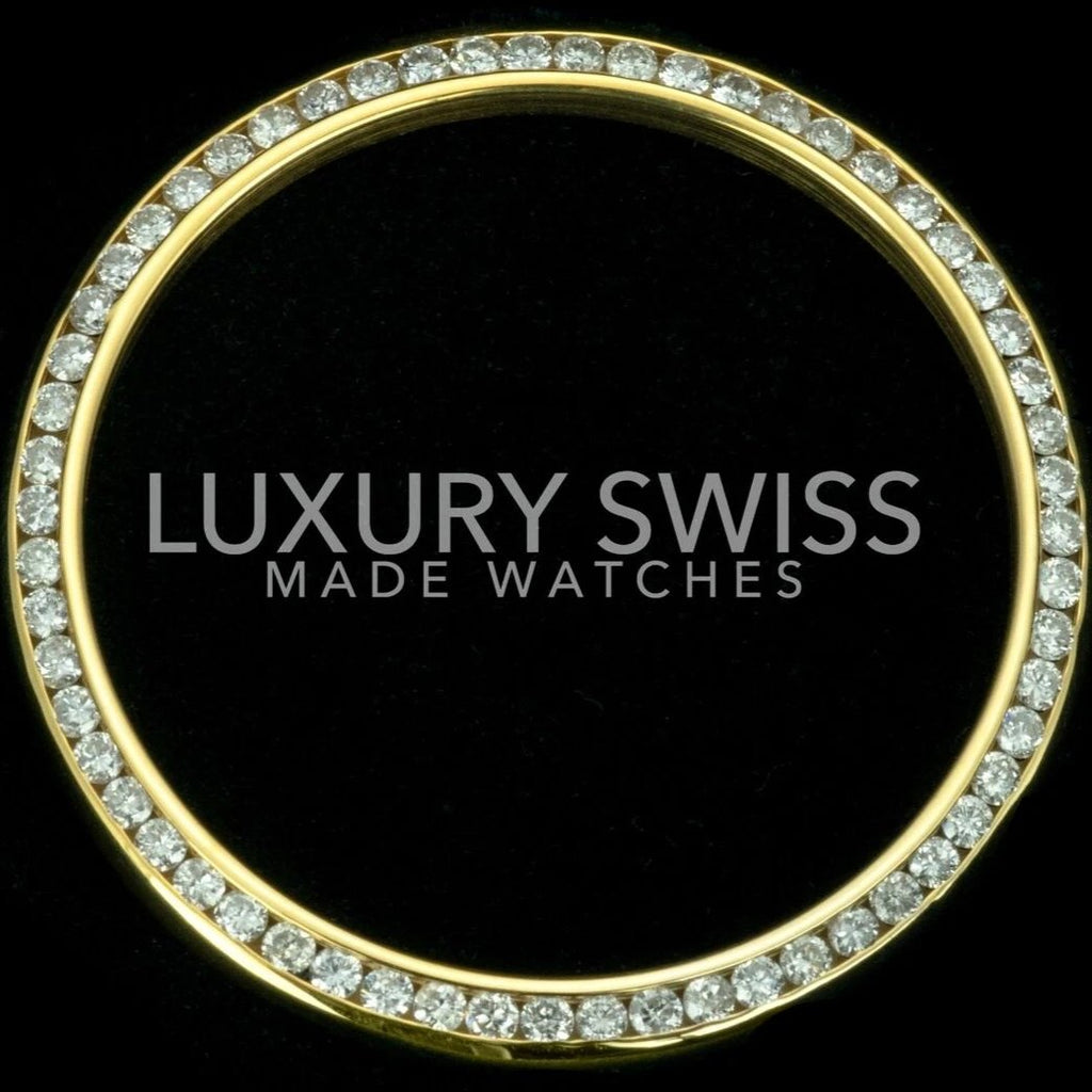 Rolex Custom 18K Gold Genuine High Quality Diamond Bezel for 36mm Approx 1.35ct - LSM WATCH