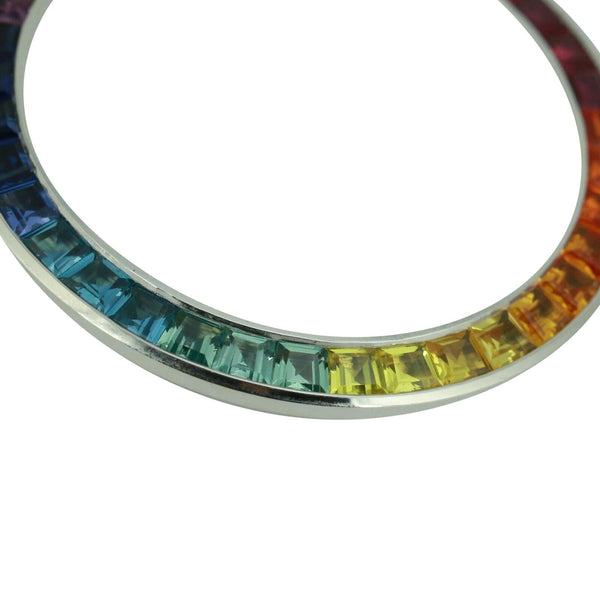 Custom Rolex Rainbow Bezel Genuine Colored Sapphire Stones for Men's Watches - LSM WATCH