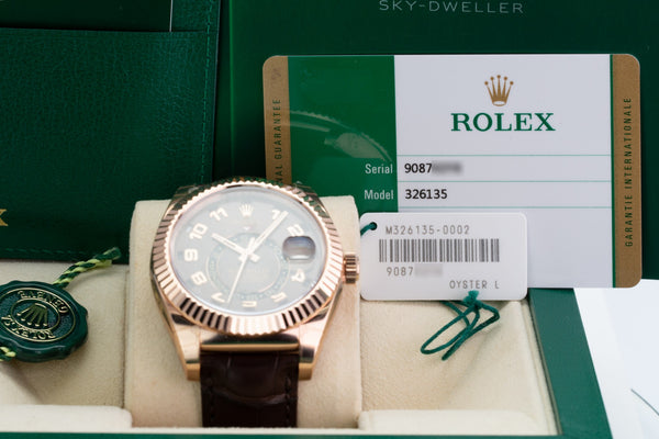 Unworn Rolex Sky-Dweller 326135 - LSM WATCH
