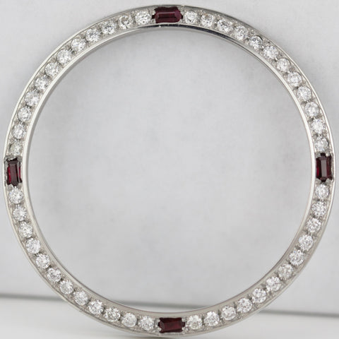 Rolex Custom Stainless Steel Bezel w/ Genuine Diamonds & Ruby 36mm 1.35ct - LSM WATCH