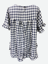 Worthier '803D' Check Linen Top - Navy/ White