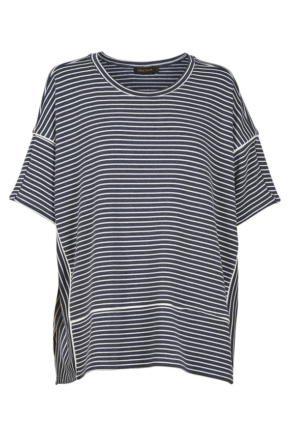 Eb & Ive 'Easy T-Shirt' - Indigo Stripe