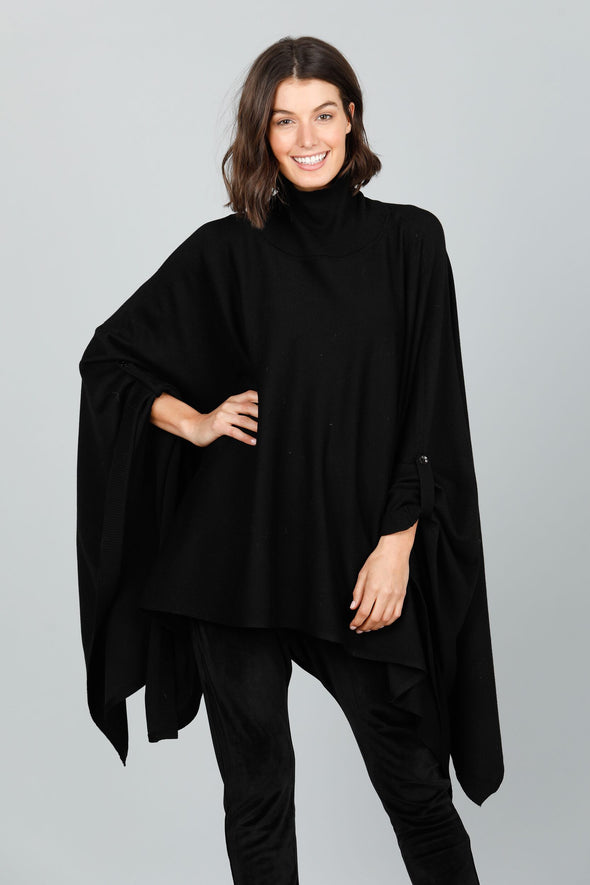 Brave+True 'Lexi Poncho' - Black