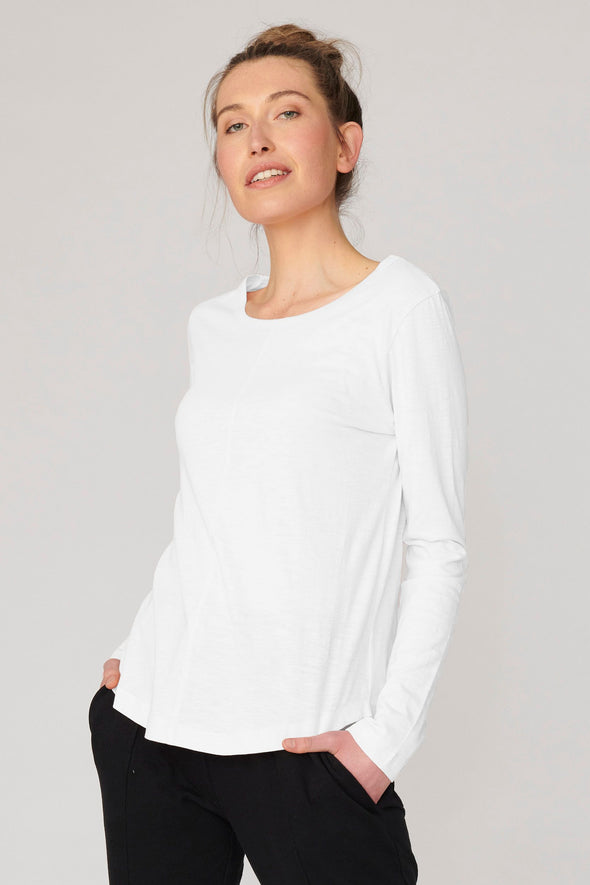 Lulu Organics 'New York' Long Sleeve Tee  -White