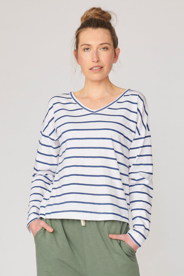 Lulu Organics 'Chicago' Long Sleeve Tee - Stripe
