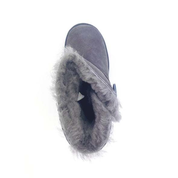 Grosby Uggs 'Button' - Dark Grey