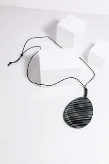 Holiday 'Delta' Necklace - Black Stripe
