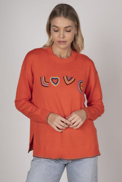 Z&P Weekend 'Full of Love' Jumper - Flame Combo
