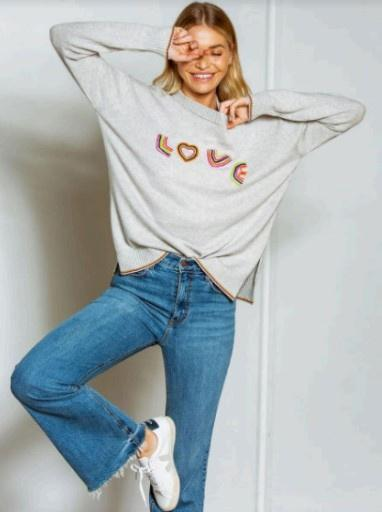 Z&P Weekend 'Full of Love' Jumper - Marle Combo