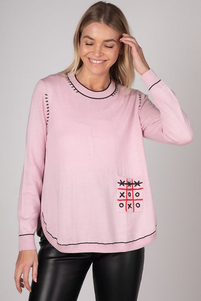 Z&P Weekend 'Tic Tac Toe' Jumper - Blossom Combo