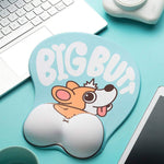 Big Butt Corgi Mouse Pad - Blue