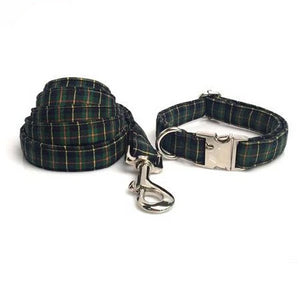 Green Christmas Plaid Collar Accessories - The Happy Cerberus