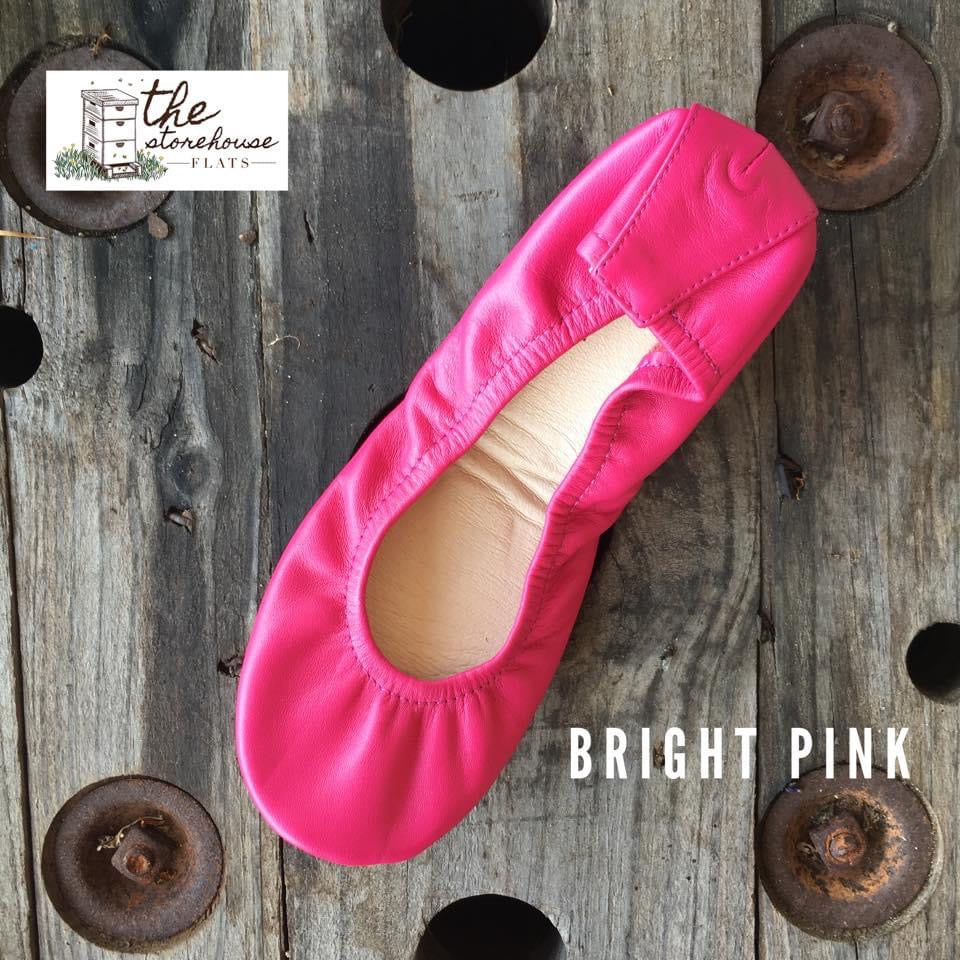 BRIGHT PINK-classic-storehouse-flats