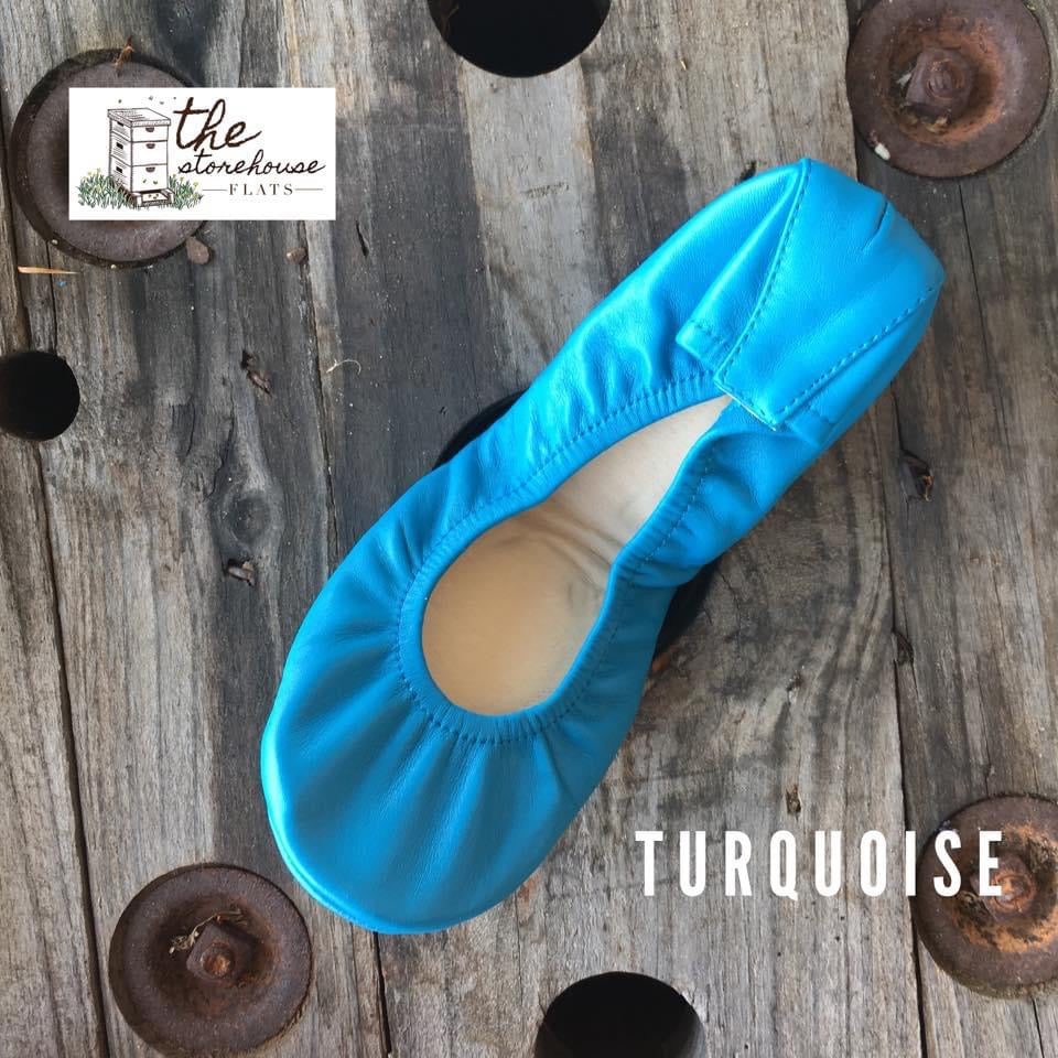turquoise storehouse flats classic