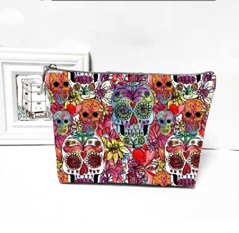 WATERCOLOR SUGAR SKULL BAG | IN STOCK - The Storehouse Flats