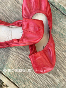 CHERRY RED (Oil Tanned)- In-stock, ship now - The Storehouse Flats