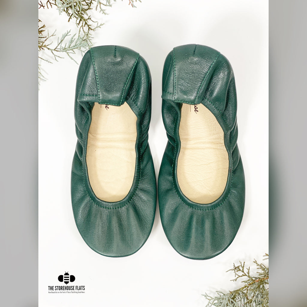 Forest Green Traditional Leather | IN-STOCK - The Storehouse Flats