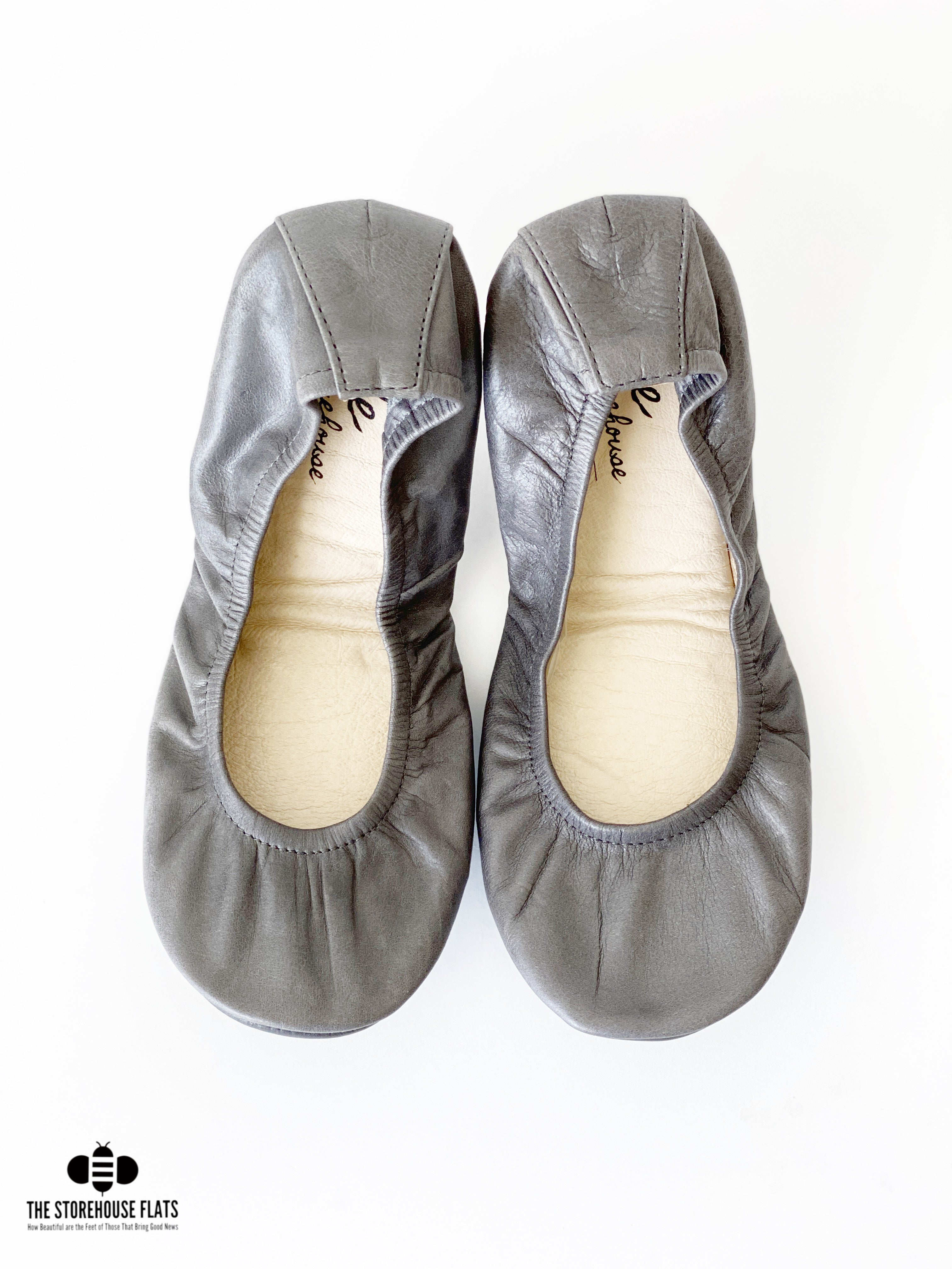 SLATE GRAY OIL TANNED | IN STOCK - The Storehouse Flats