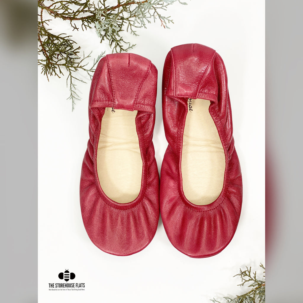 Maroon Traditional Leather | IN-STOCK - The Storehouse Flats