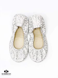 SILVER SNOW LEOPARD | IN STOCK - The Storehouse Flats