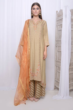 Golden kurta set