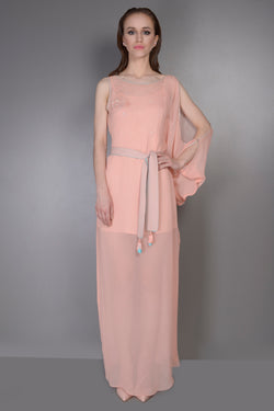 ONE SIDE COLD SHOULDER KAFTAN