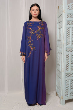 EMBROIDERED KAFTAN WITH FLAIRED SLEEVES