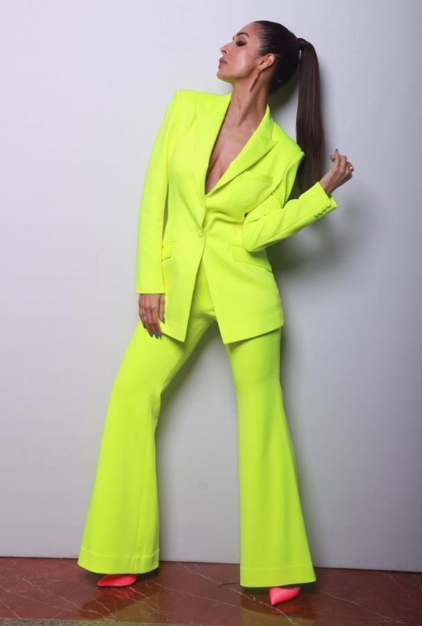 Neon Green Pant-Suit