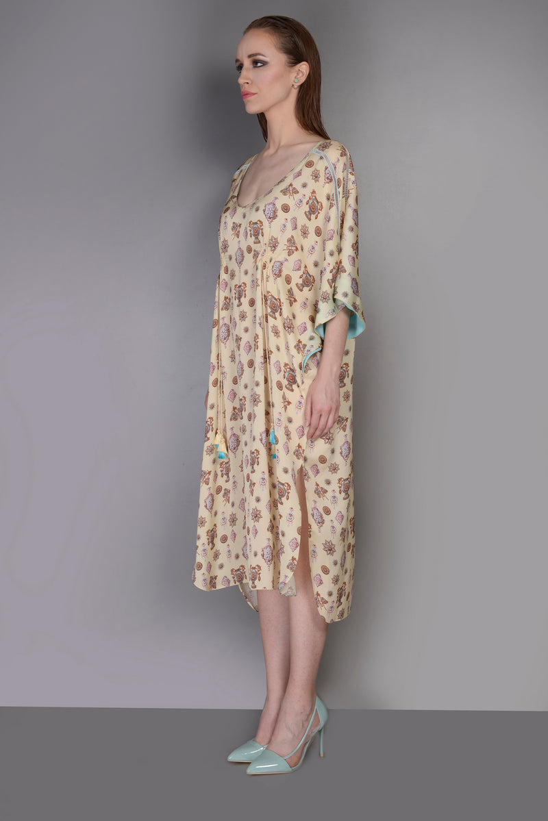 PRINTED KAFTAAN DRESS