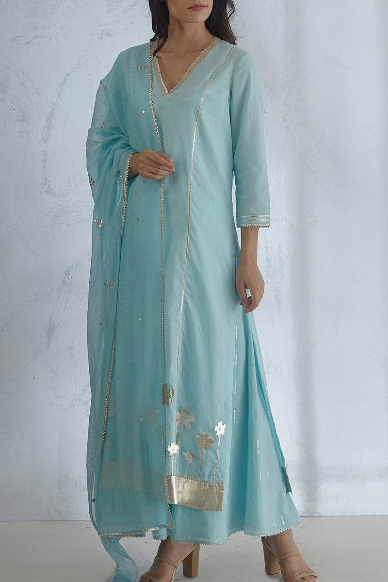 Light Blue Dupatta