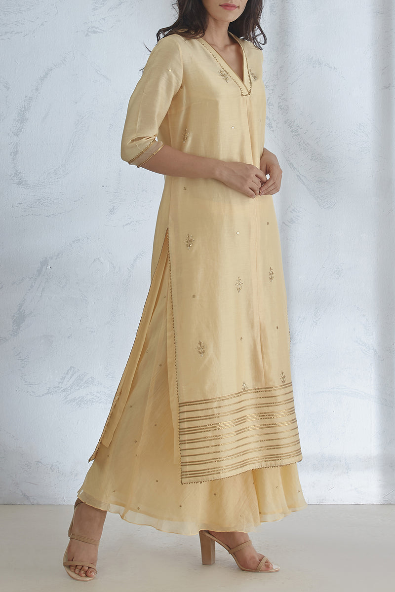 Pale Yellow Kurta