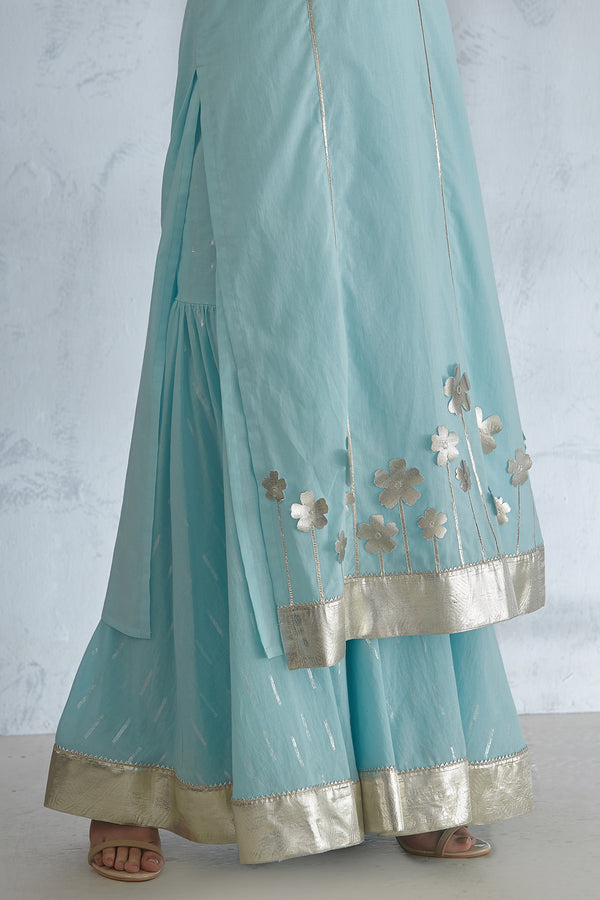 Light Blue Gota Sharara