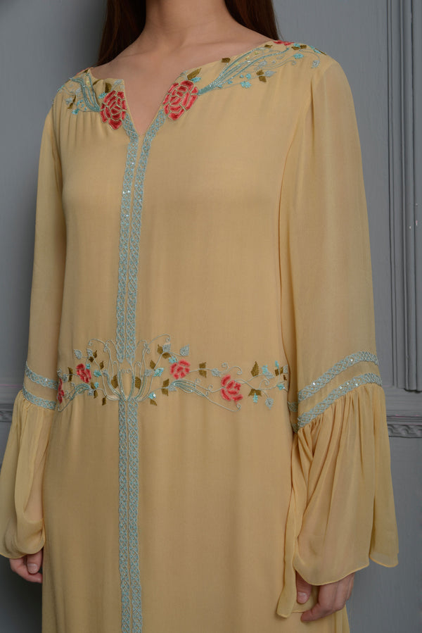 Sunset Yellow Kaftan