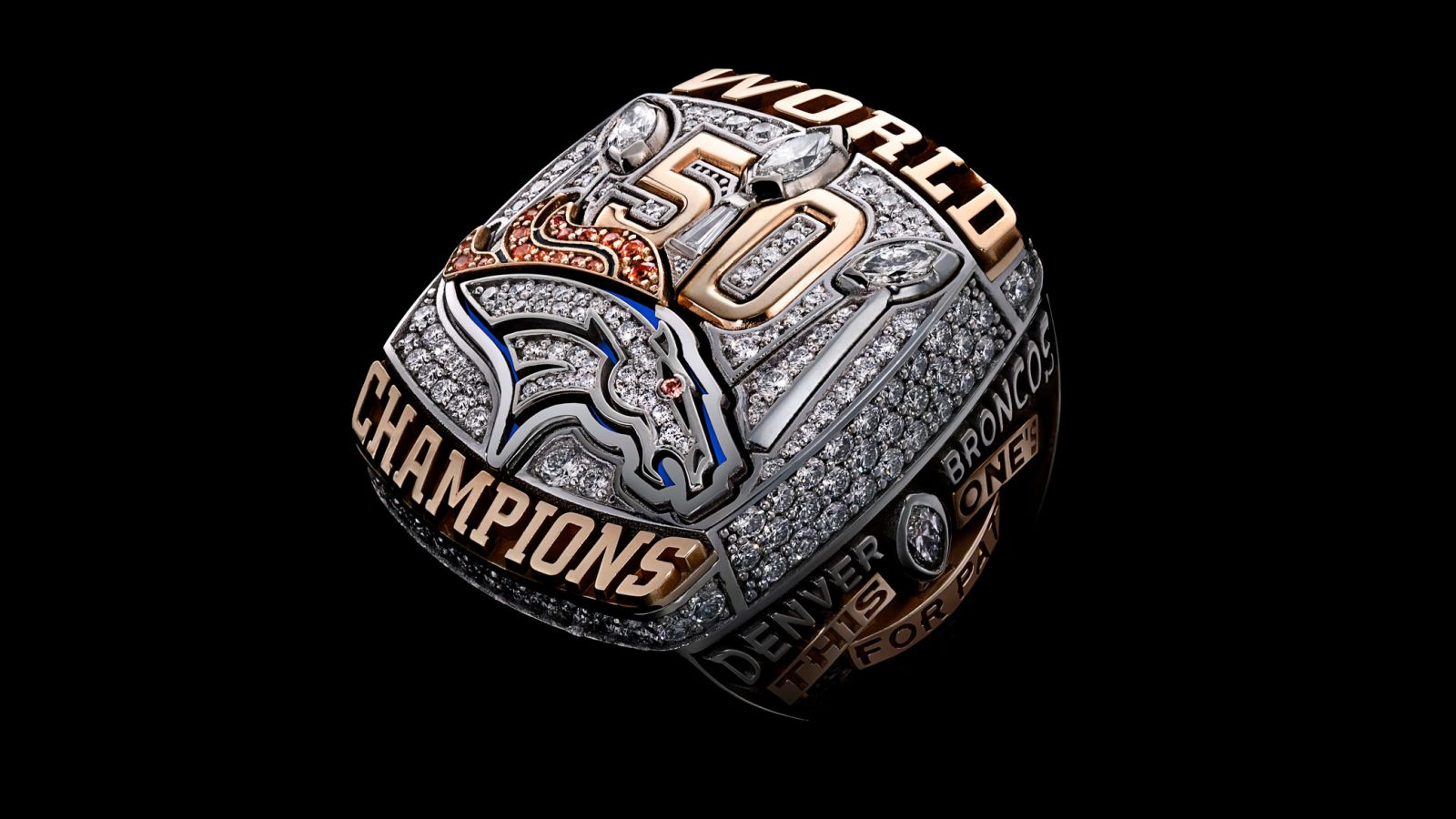 2015 Denver Broncos Super Bowl Miller Championship Ring
