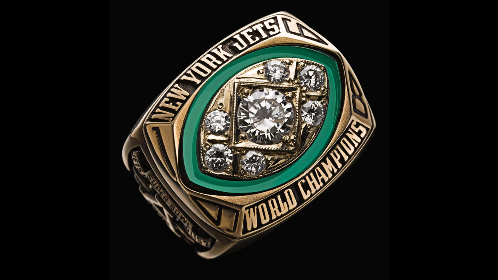 1968 New York Jets Super Bowl Championship Ring