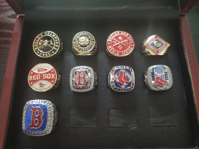 1903-2018 Boston Red Sox World Series Championship Rings Set