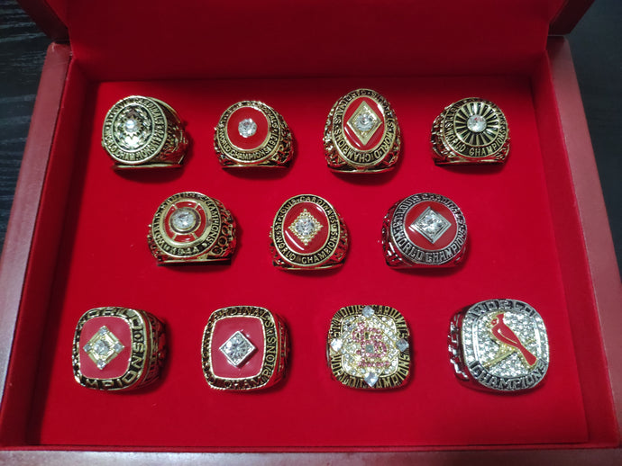 1926/1931/1934/1942/1944/1946/1964/1967/1982/2006/2011 11 PCS St. Louis Cardinals World Series Championship Rings Set