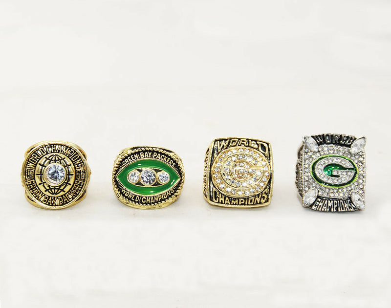 1966/1967/1996/2010 Green Bay Packers Super Bowl Championship Rings Set - foxfans.myshopify.com